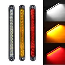 Slim Led Trailer Lights Us 11 76 14 Off 12v 24v Yellow Red White Lights Universal Led Stop Tail Light For Tray Back Ultra Slim Trailer Truck Ute Blinker In Car Light