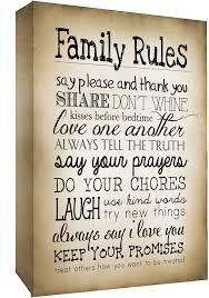 Canvas Wall Art Quotes Adorable Sepia Family Rules Quote Canvas Wall Art Picture Print ALL SIZES