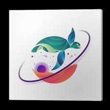 Obraz Na Plátně Korytnačka Vesmír Zlatý Poměr Tetování Ilustrace Pixers žijeme Pro Změnu