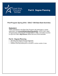 Degree Planning Instructions And Activities