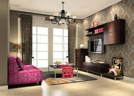 Wallpaper Living Room Designs Living Room Interior Design With Printed Curtains 3d House
