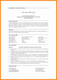 Example Cv Profile Summary For Resume Examples Best Of Examples