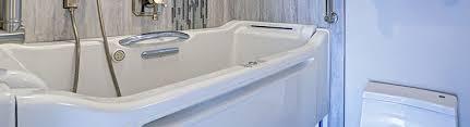 bathroom with walk in bathtub