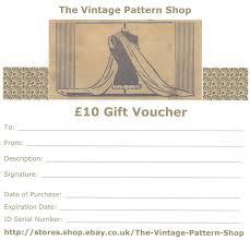 10 gift voucher the vine pattern