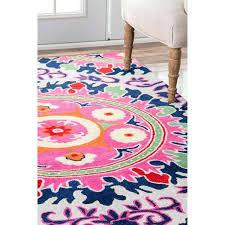 useful nuloom pink rug k1796362 nuloom vintage persian medallion pink rug 5 x 75