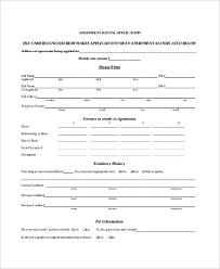 Sample Apartment Rental Application 10 Examples In Pdf Word