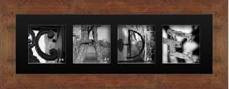 frame your name in letter art