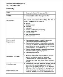 Site Safety Plans Project Safety Plan Template