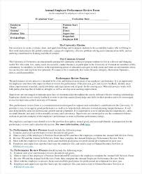 Examples Of Performance Review Appraisal Letter Sample Feedback On Employee Performance