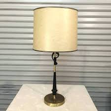 rembrandt table lamps beautiful metal sculptural table lamp with original milk glass and drum shades the rembrandt table lamps s