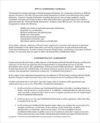 11 hipaa confidentiality agreement