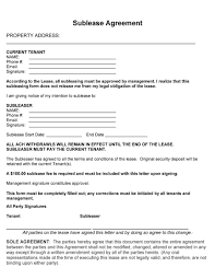 Sublease Form 40 Professional Sublease Agreement Templates Forms