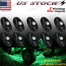 4x4 Led Lights Ebay Details About 10 X Underglow Green Led Rock Lights For Jeep Off Road Atv 4x4 Truck Underbody