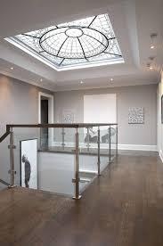 skylight lighting. Adriana Mot, Proprietor Of Dochia Interior Design, Cut A Massive, 64-square-foot-skylight Above Canvas -lined Stairwell. (Dochia Design) Skylight Lighting