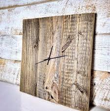 modern rustic clock barn wood wall