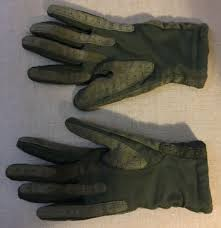 green aris knit lined stretchy isotoner leather gloves size miss m