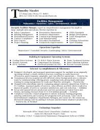 Manager Resume Samples Manufacturing Engineering Sample Facilities