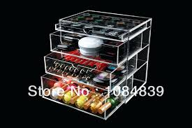 le acrylic makeup organizers with drawers for house design high quality fashionable handmade 4 drawer organizer