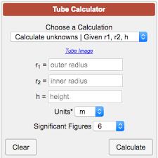Tube Calculator