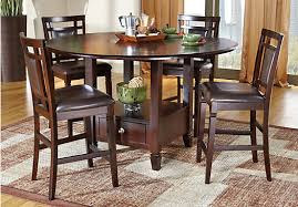 Landon Chocolate (brown) 5 Pc Counter Height Dining Set - Casual