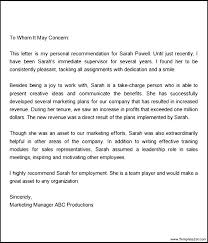 Sample Recommendation Letter For Employment 10 Example Of A Recommendation Letter 1mundoreal