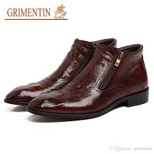 grimentin hot brand ankle men boots italian fashion designer mens shoes genuine leather crocodile style formal men dress boots ski boots boots no 7