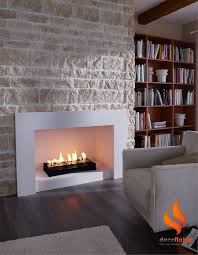 bio ethanol fireplace insert maybe with stones around it