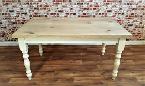 rustic chunky oak dining kitchen table natural farmhouse finish full stave