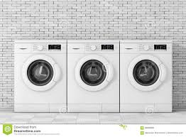 row of washing machines. Exellent Row Download Row Of Modern Washing Machines 3d Rendering Stock Illustration   Of Clean Inside Machines S