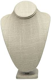 Long Necklace Display Stand Amazon Grey Linen Necklace Jewelry Display Stand Bust Figure 27