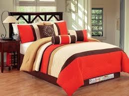 33 valuable design ideas burnt orange comforter set bright to and brown bedding sets 7 pce