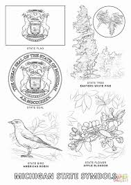 Oklahoma State Coloring Pages Lovely Michigan State Symbols Super