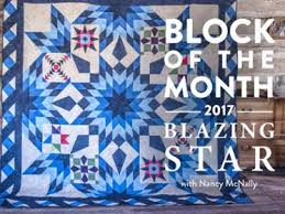2017 Blazing Star Block of the Month Quilt Kit by Nancy McNally ... & 2017 Blazing Star Block of the Month Adamdwight.com