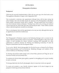 10 Photographer Job Description Templates Pdf Doc Free