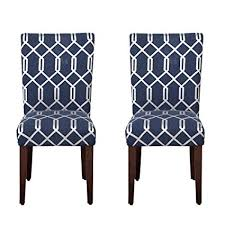 image unavailable image not available for color homepop navy blue cream lattice elegance parson chairs