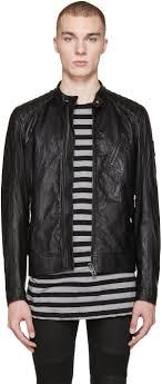 belstaff black leather v racer jacket men belstaff leather jacket worldwide