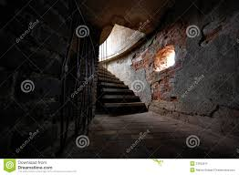 Basement Stairs In Old Castle Stock Photo Image - Creepy basement stairs