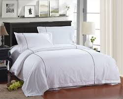 hotel collections 100 fine combed cotton 40s luxury white color bed linen with coffee piping
