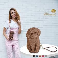 <b>Adamo 3D Bag Original</b> QQ Poodle Clutch With Strap Long Women ...