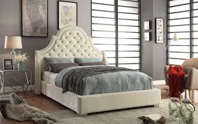 Meridian Bedroom Furniture Madison Bed Queen Size Beige By Meridian Furniture Sohomodcom