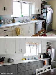 in the end we decided to update kitchen cabinets without replacing them by adding some trim and new paint