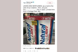 Where To Get 77 Pack Of Natural Light Maryland Comptroller Says Natty Light 77 Packs Take