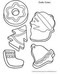 Small Picture Christmas Cookies Coloring Pages Christmas Cookie Shapes