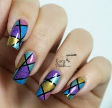 Abstract Holo Nail Art Design with Tutorial - Lucy's Stash