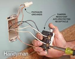 how to install electrical outlets in the kitchen the family handyman photo 9 wire the receptacles