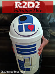 I worked on it during his quiet time and when he was playing with a friend. R2d2 Valentine Box Perfect Valentine Box For Kids