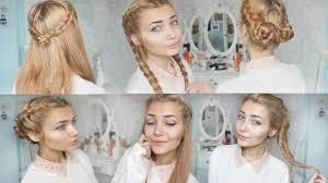 How To Make Cool Hairstyle 4 cute braid back to school hairstyles youtube 6355 by stevesalt.us