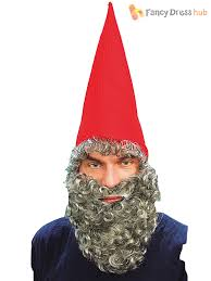 s dwarf elf gnome hat beard mens las