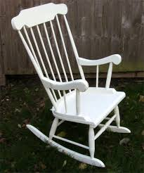 the old rocking chair was originally varnished and the joints were loose ideal piece of furniture to shabby chic i have re glued all the joints