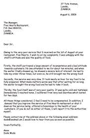 Letters Of Complaints Samples Letters Of Complaint Samples Template Business